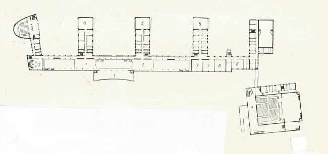 Дворец пионеров на Ленинских горах. План 2 этажа