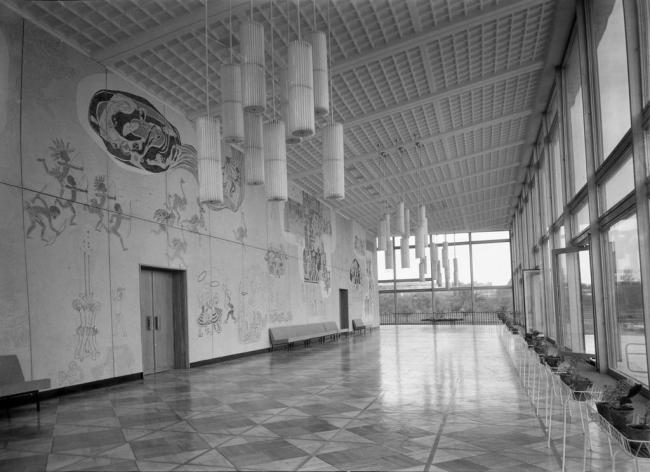 Дворец пионеров на Ленинских горах. Фойе концертного зала
