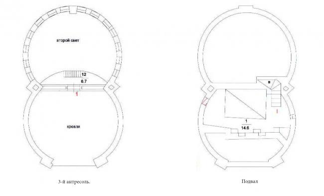 Поэтажный план. Дом архитектора К. С. Мельникова