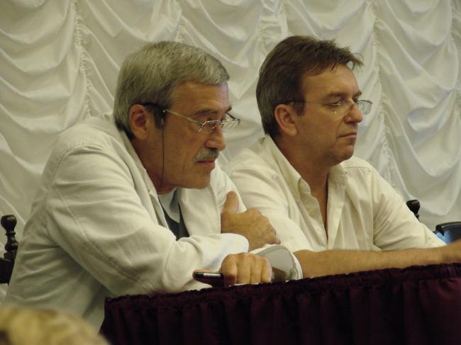 Фотографии с учредительного собрания НП ГАРХИ: Александр Скокан и Сергей Киселев