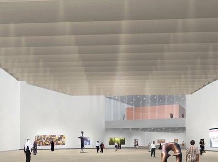 Музей современного арабского искусства. Залы временных выставок