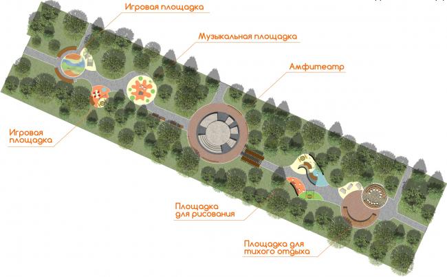 Проект детская площадка. Сквер имени Лемаева