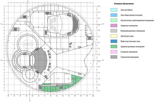 План 6-го этажа на отм. +16.500. Международный центр эпоса евразийских народов