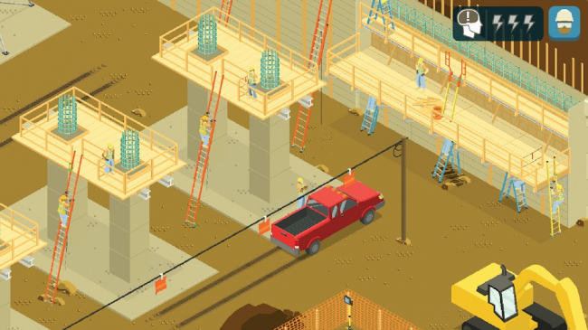 Site Coach: Ladder Safety Construction. Игра разработана компанией Simcoach