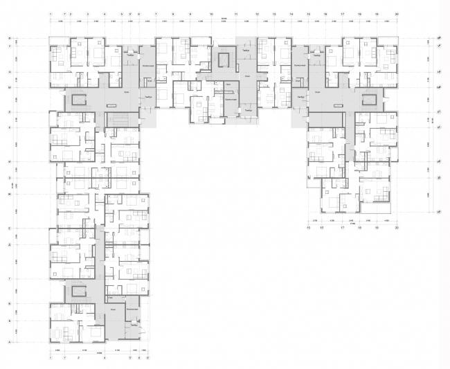 Жилой комплекс «Миниполис Дивное». Архитектурная концепция, корпус 12, план 1 этажа