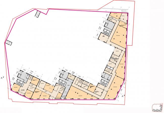 Архитектурная концепция, план -1 и цокольного этажей. Жилой комплекс бизнес-класса «Маринист»