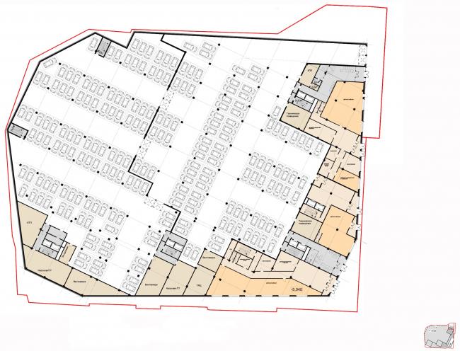 Архитектурная концепция, план 1 этажа. Жилой комплекс бизнес-класса «Маринист»