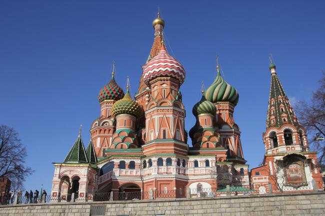 Покровский собор (храм Василия Блаженного) на Красной площади в Москве. Отреставрирован ЦНРПМ