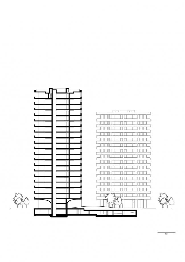 Жилые башни Hoxton Press