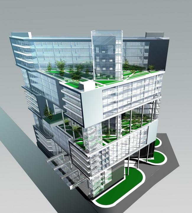 Офисно-гостиничное здание, 1-й Земельный переулок © ПТАМ Хазанова