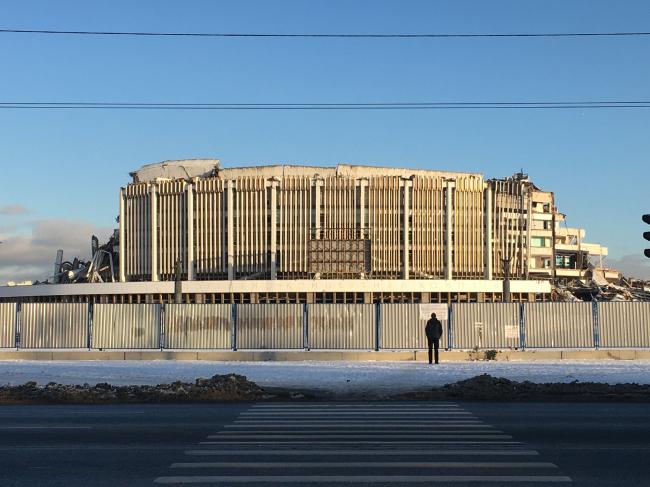 СКК через неделю после обрушения, февраль 2020