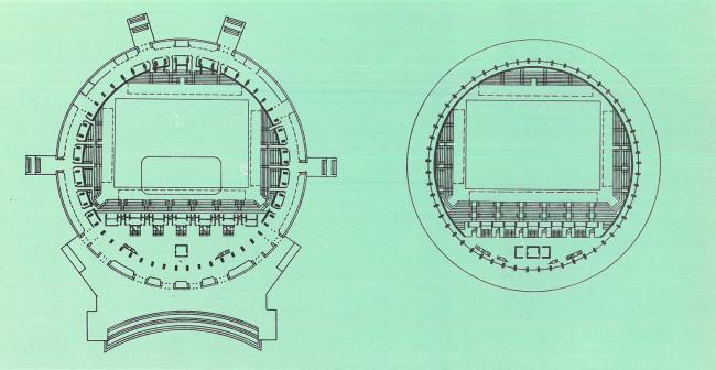 Планы 1-го и 2-го этажа. Спортивно-концертный комплекс «Петербургский»
