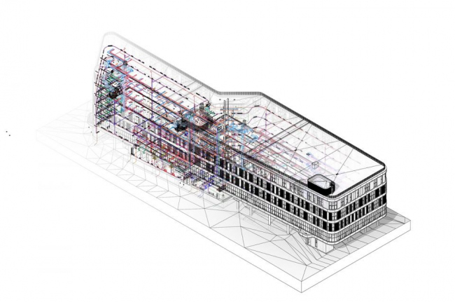 BIM модель. Научно-производственный комплекс по производству электроники и приборостроения, проект
