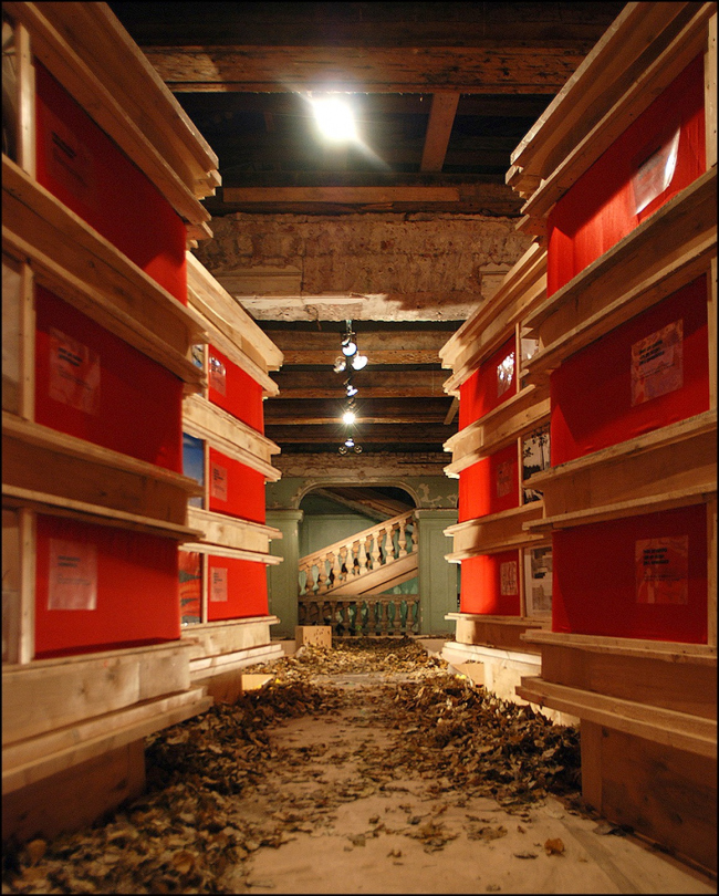 """The exhibition """"Foraward, to the 1930′s!"""", Museum of architecture, 2008. """"Jophan′s Children"""" architectural gruop"""