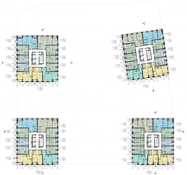 Схема плана 3-го жилого этажа. ЖК «31 квартал»