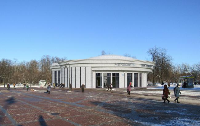 Перспектива вариант №2. Реконструкции наземного вестибюля станции метрополитена «Парк Победы»