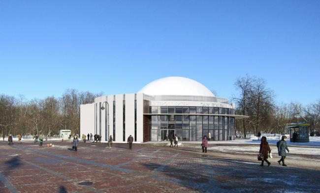 Перспектива вариант №3. Реконструкции наземного вестибюля станции метрополитена «Парк Победы»