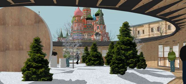 Павильон Снегосад в Зарядье