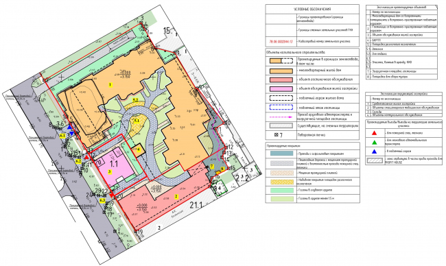 """The master plan of the plot. """"Amo"""" residential complex"""