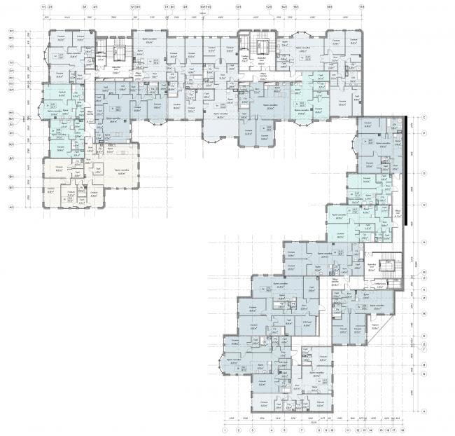 Третий этаж жилого дома. ЖК «Бомонд»
