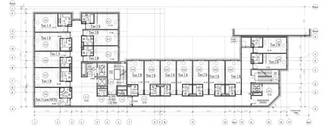 Типовой этаж гостиницы. ЖК «Бомонд»
