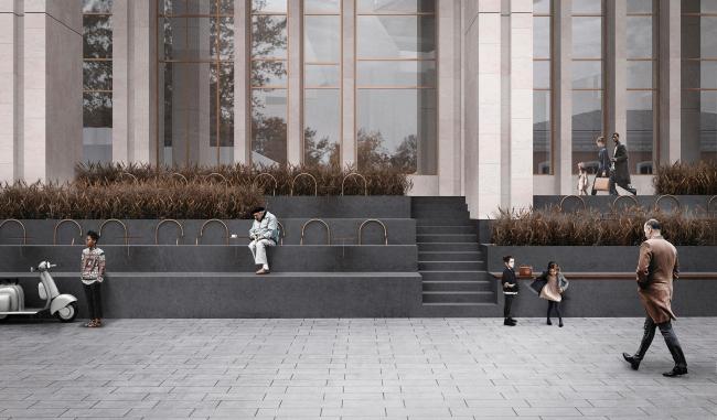 Амфитеатр. Проект реконструкции Московского Дворца Молодежи 2020 г.