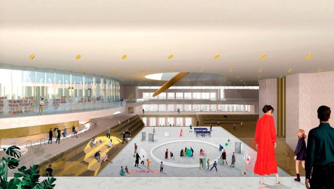 Проект реконструкции Московского Дворца Молодежи 2020 г.