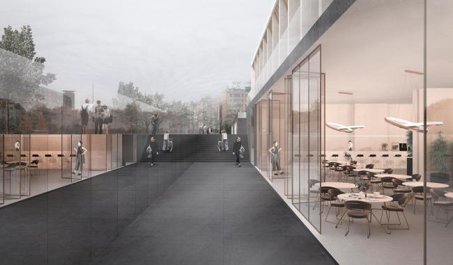 Стилобат. Проект реконструкции Московского Дворца Молодежи 2020 г.