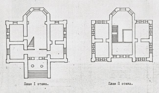 Главное здание Бактериологической станции, 1892г. Чертеж 1913г.