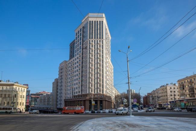 Жилой комплекс с помещениями общественного назначения и автостоянкой на площади Свободы