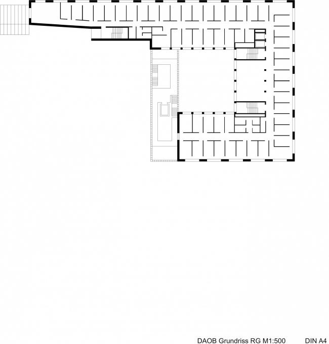 Административное здание с теплицей на крыше