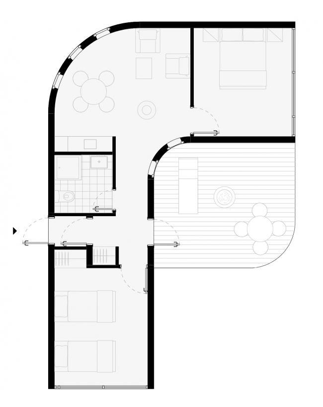 Вилла №2-Тип TWIN. Концепция эко-отеля «Волна»