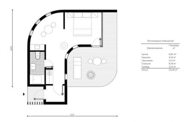 Вилла № 1. Концепция эко-отеля «Волна»