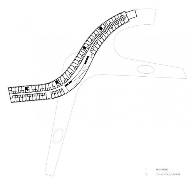 Главный корпус план 2-го этажа. Концепция эко-отеля «Волна»