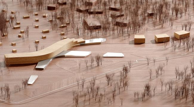 Модель. Концепция эко-отеля «Волна»