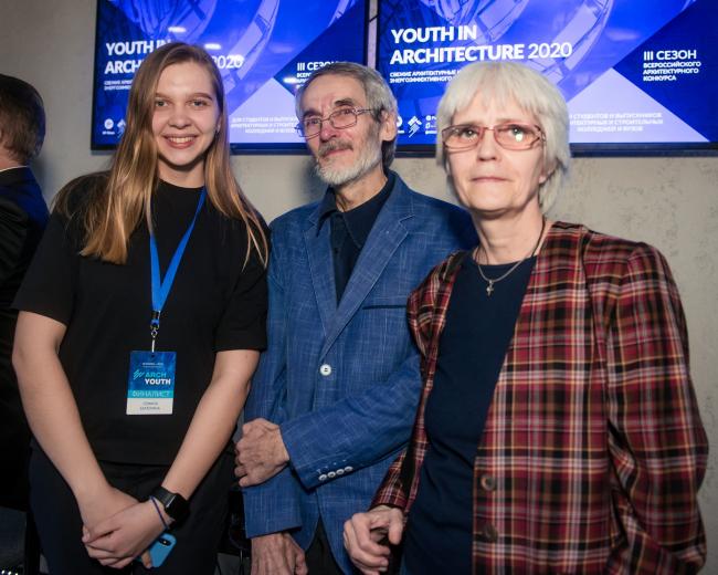 Екатерина Семина (ННГАСУ), Константин Савкин и Лаура-Анна Гострем («Архитектурный вестник»)