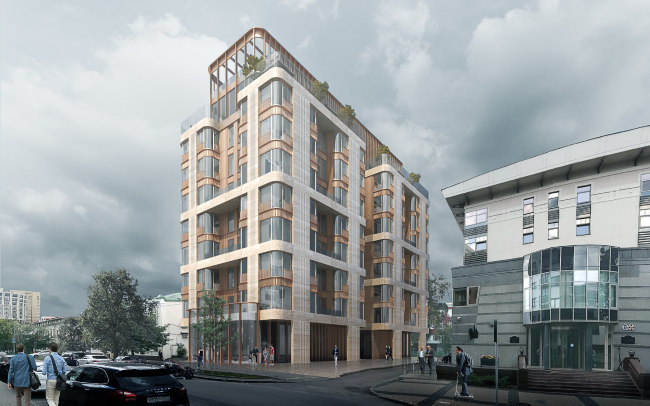 The high-end residential complex in the 1st Truzhenikov Lane
