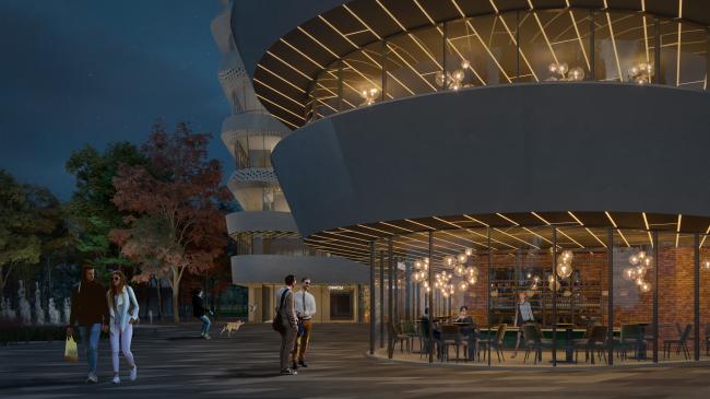 Схема расстановки городской мебели. Проект медико-оздоровительного центра и благоустройство парковой зоны «Бринкманский сад»