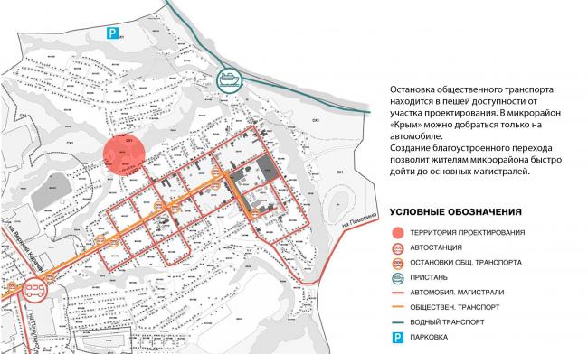 Транспортная схема. Создание парка «Крымская горка» в г. Новохоперск