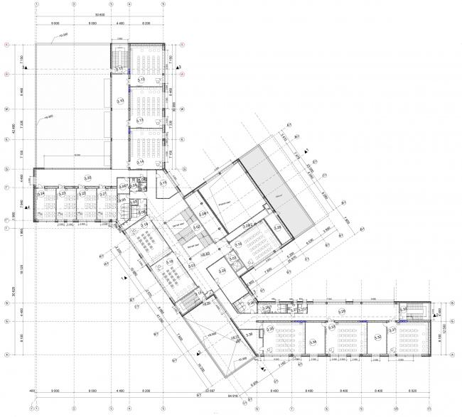 План 3-го этажа. Общеобразовательная школа на 275 мест