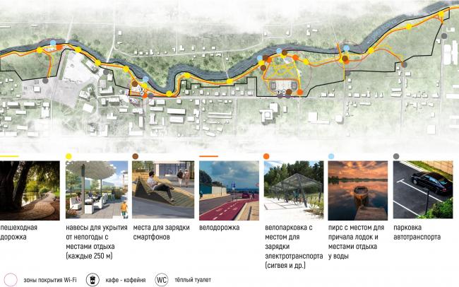 Карта-схема проектной транспортной, пешеходной и велосипедной организации территории, в том числе организация парковок. Соляная верста