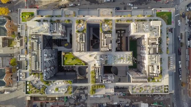 Жилой комплекс Denizen Bushwick. Вид одного из двух кварталов