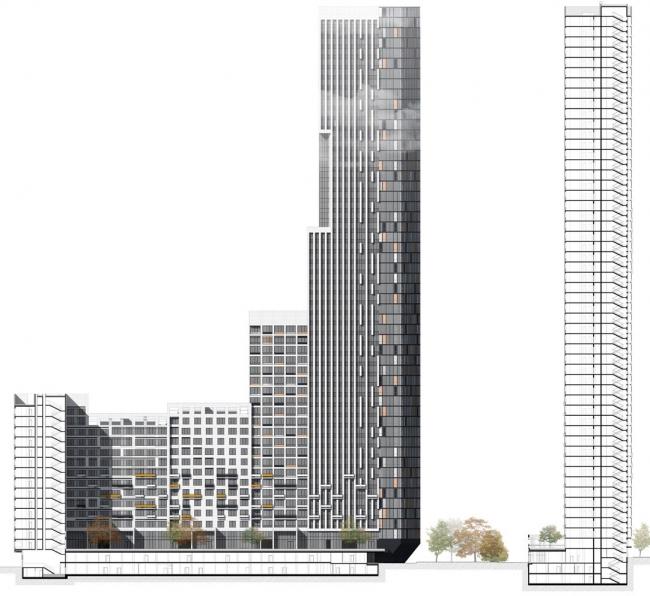 Многофункциональный жилой комплекс в Мукомольном проезде / ЖК  Headliner