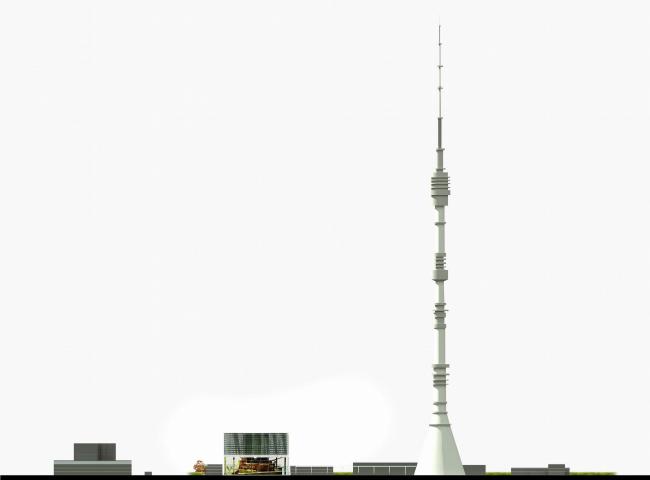 Конкурсный проект телекоммуникационного центра, вариант 1 © ТПО «Резерв»