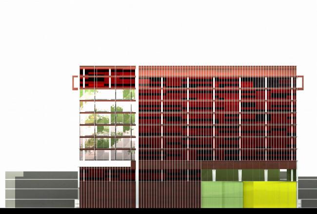 Конкурсный проект телекоммуникационного центра, вариант 2 © ТПО «Резерв»