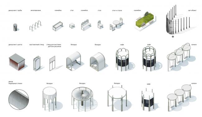 Малые архитектурные формы. Бульвар Академика Кикоина