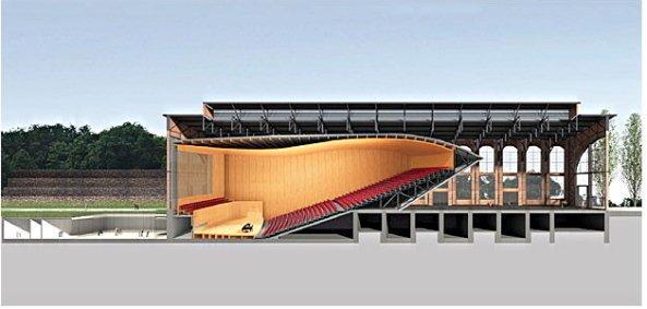 Концертный зал Филармонии земли Саар. Разрез