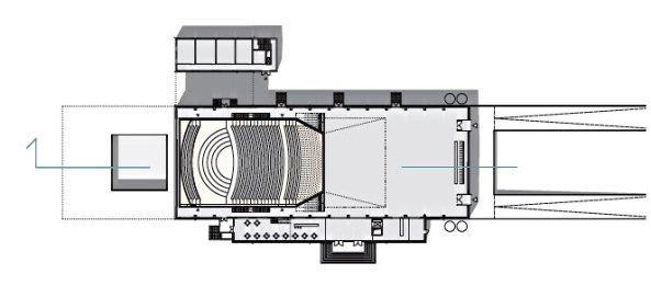 Концертный зал Филармонии земли Саар. План верхнего уровня