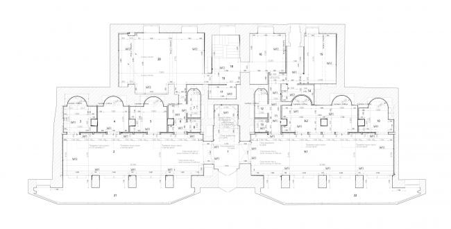 План 1-го этажа. Бутик и ателье для бренда Rasario