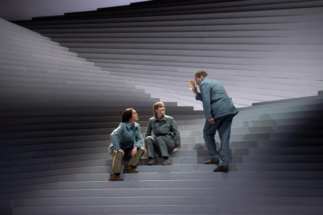 Постановка «Фиделио» в Театре ан дер Вин. 2020. Сценография архитекторов Barkow Leibinger
